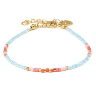 """Armband """"Delicate"""" light blue silber ( sold out) od rosegold 14€"""