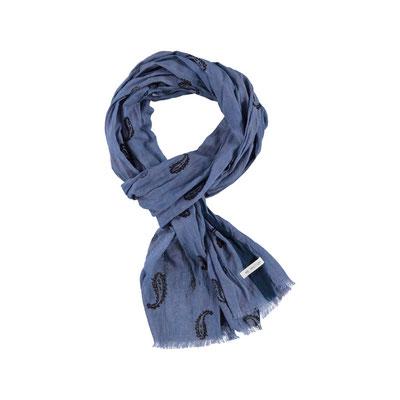 "Schal ""Paisley"", 100% Cotton, 50x180cm, navy, 29,95€"