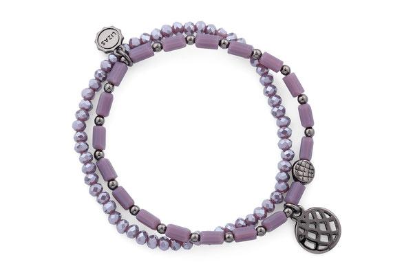 "Armband ""Hyazinthe"" lila/dark grey 18€"