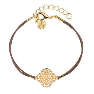 "Bracelet ""Flower"" grey in silber od gold 14€"