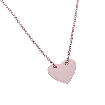 "Kette ""Heart"" rosegold 19€"