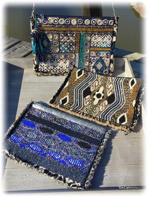 AlexMax@Firenze Clutch inkl langer Kette, petrol, silber/gold (sold out) blue/silber 59€
