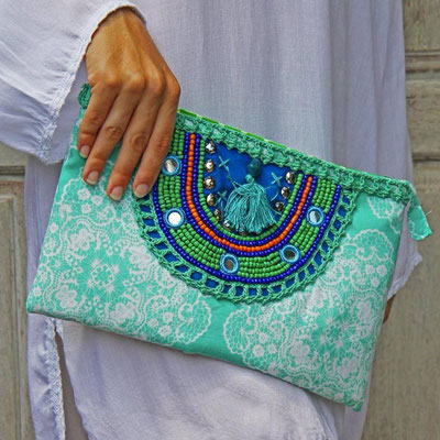 Bali Sensasi Clutch Oni Print Mint 44€ on SALE minus 30%