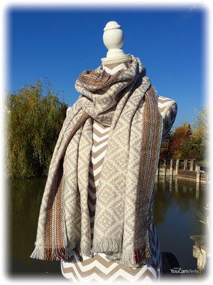 "Winterschal ""Indian Summer"" grey 29€ / -  50%"
