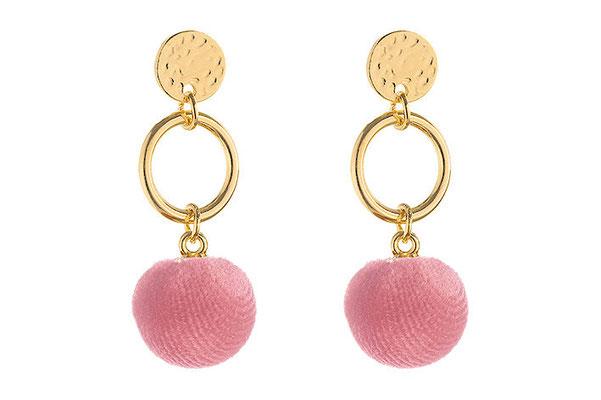 "Ohrringe "" Kugel"" gold/rosa, 16€"