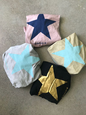 "Shirt long ""Star"", 100% Cotton, one size, grey/aqua, soft pink/blue, beige/aqua, black/gold  44,90€"