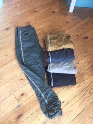 Stretchjeans, S/M/L/XL, mit Silberstreifen, black/khaki, darkgrey, kitt, senf  59,90€