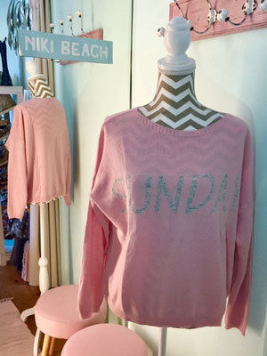 """Pulli """"Sunday Morning"""", one size, soft pink, 49,90€"""