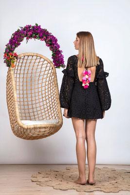 Dress Margherita  black/multi pink in Size M   164€
