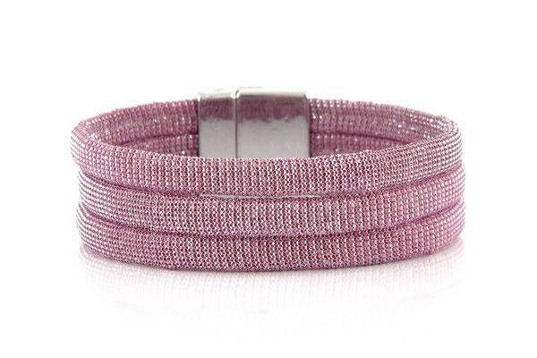 "Armband "" Triple"" pink/silver, 22€"