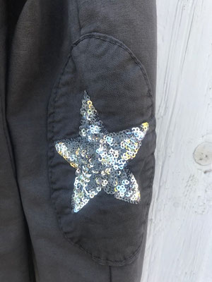 "Sweatsakko ""Star"", schlamm, in GR S/M/L/XL, 49,90€"