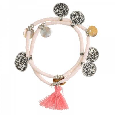 Bracelet Coin soft pink 22€