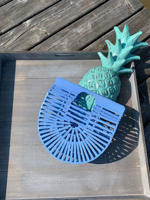"Basket ""Bamboo"", sky blue,  49€"