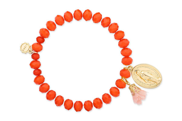 "Armband ""Madonna"", orange, 16€"
