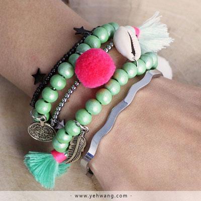 "Armband ""Surfergirl"" green 19€"