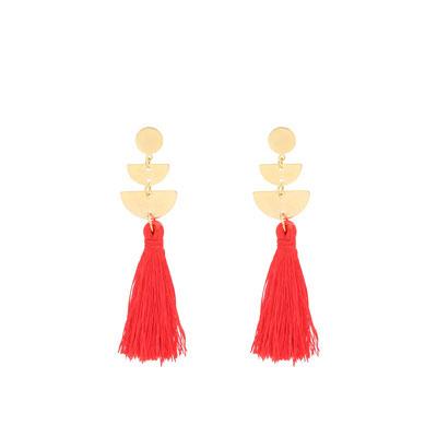 """Ohrringe """"Tulum"""" coral red, 19€"""