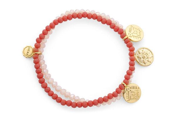 "Armband ""Himalaya"" coral/nude/gold 19€"