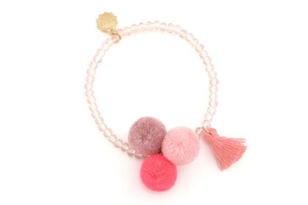 """Armband """"Triple Pom Pom"""", pink 16€"""