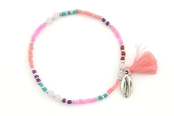 """Armband """"Muschelbank"""", pink, 14€"""