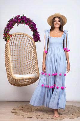 Dress Pippa light blue/red/pink in Size XS/S und M/L  159€