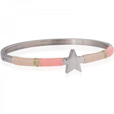 """Armreifen """"Augenstern"""" silver soft pink 22€"""