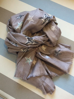 Sternschal beige, 80% Cotton, 20% Cashmere 29€
