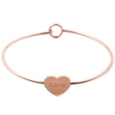 """Armreifen """"Skinny Heart"""" rose gold 15€ 2 Größen erhältlich"""