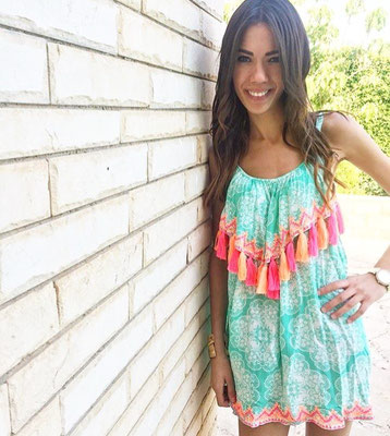 Dress Pom Pom Mint 79€ also available in Print Blue