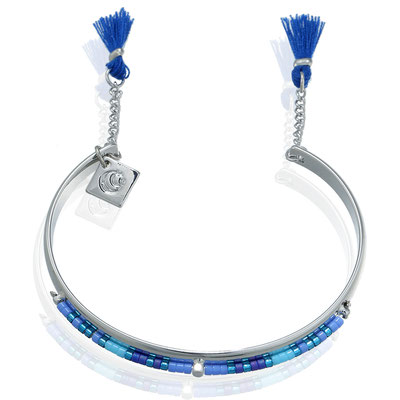 Armreifen Ibiza Morning silver blue 19€