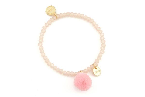 "Armband ""Single Pom Pom"", soft pink, 14€"