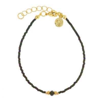"Armband ""Diamond Bracelet"" army green, in rosegold und silber, 14€"