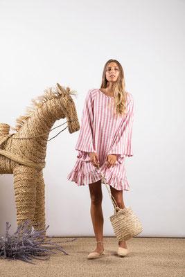 Dress Indiana, portofino pink, 60% Baumwolle 30% Viskose 10% Lurex, in Gr XS/S und M/L,  139€