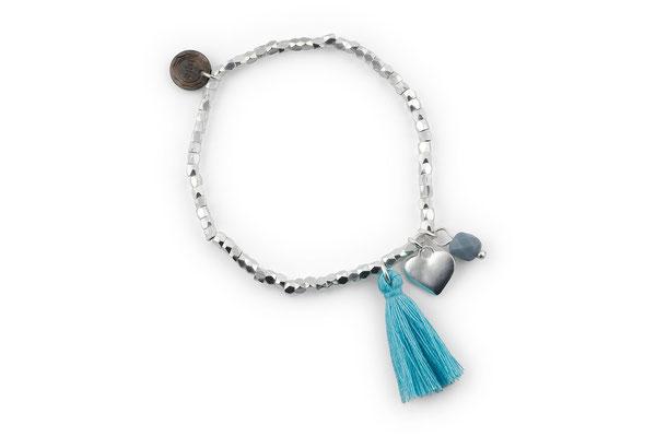 "Armband ""Herzilein"", blue, 14€"
