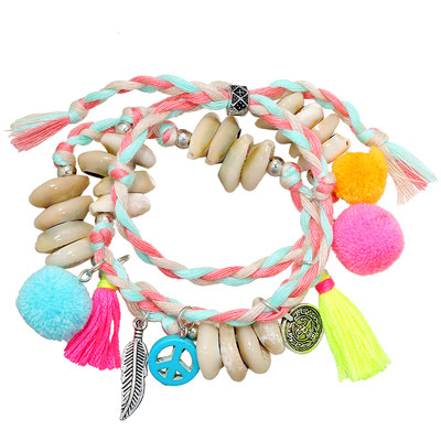 """Armband """"Hippie all over""""  colourful 19€"""