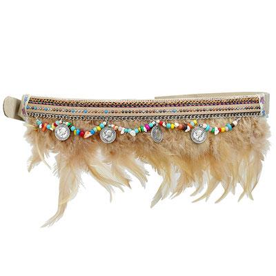 Gürtel Boho Feather beige 29€