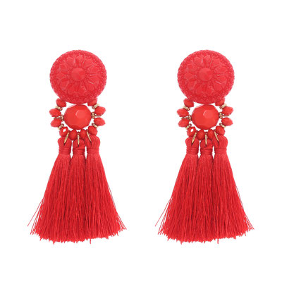 "Ohrringe ""Acapulco"" coral red, 16€"
