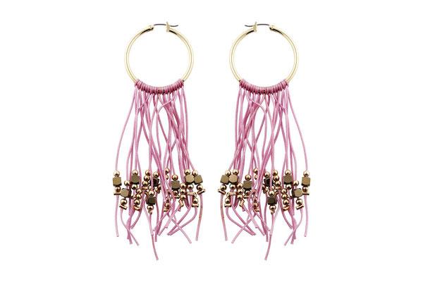 "Ohrringe ""Goldrausch"" pink, 26€"
