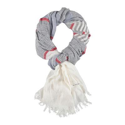 """Schal """"Segelbooot"""", weiß/marine, 100% Cotton, 70x200cm, 24,95€"""