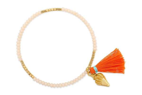 "Armband ""Diving Princess"" nude/orange/gold, 14€"
