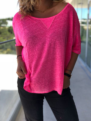 "Leinenshirt ""Loose"", pink, one size, 39,90€ sold out"