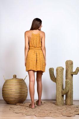 Dress Frida dark sand/gold jasmine mit Bindegürtel  in Size XS/S und M/L   164€ on SALE -30%