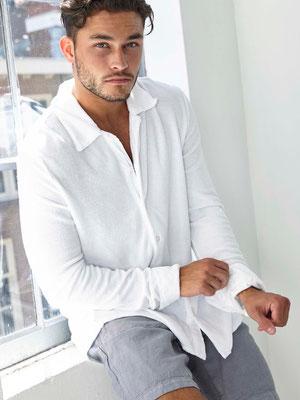 Terry Towel Shirt long, white, Gr S/M/L, 109,90€