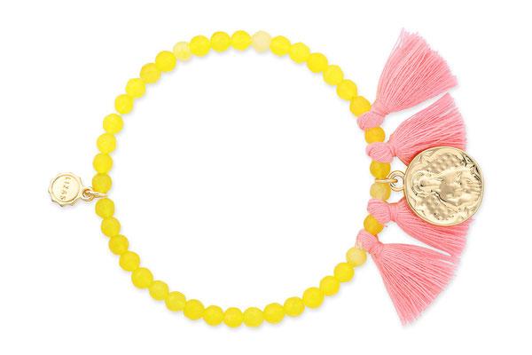 "Armband ""Madonna"" yellow/pink, 16€"