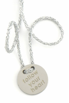"""Armband """"follow your heart"""", silver 22€ out of stock"""