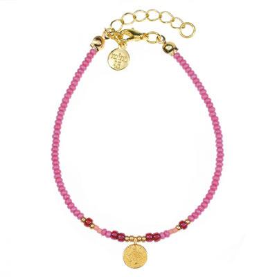 """Bracelet """"Coin Boho Pink"""" in silber od rosegold 12€"""
