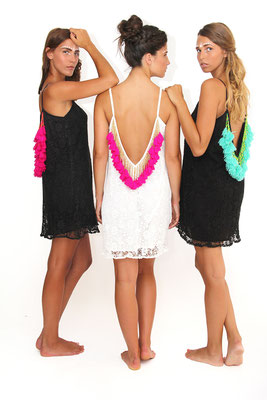 Dress Lana short white/türkis (xs/s), white/pink (xs/s) out of stock, black/pink  139€ on SALE 30%