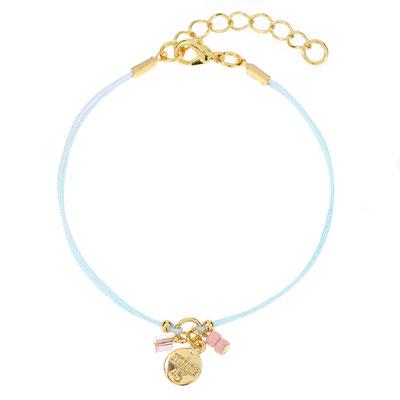 "Armband ""Twinkle"" light blue silber od rosegold 14€"