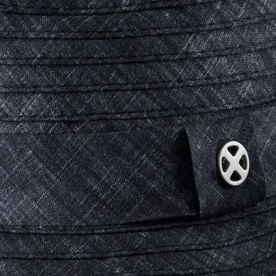 """Hut """"Easy"""", 100% Polyester, jeans, mit Band größenverstellbar,   19,95€"""