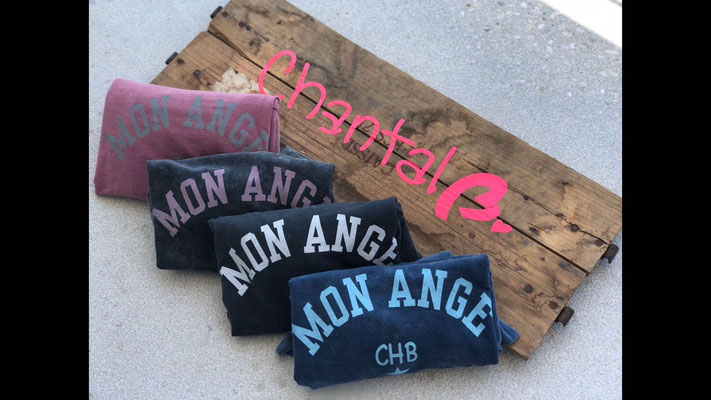 """Sweater """" Mon Ange"""", 100% Cotton, one size, blue/dark grey-white/grey-pink/rose(sold out)yellow 44,90€"""