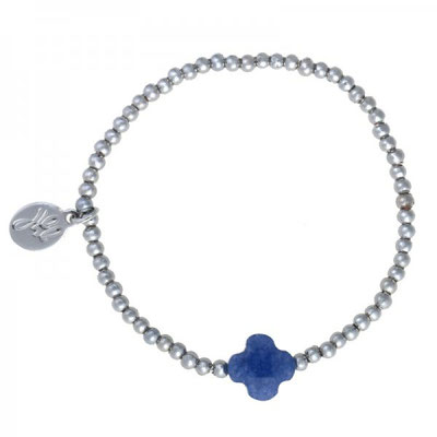 """Armband """"One More"""""""" silver blue 12€"""